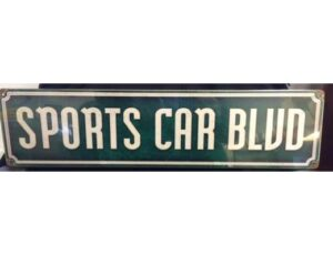 SPORTS CAR BLVD METAL SIGN