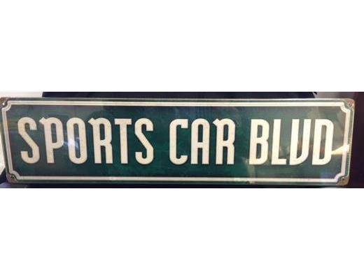 SPORTS CAR BLVD METAL SIGN