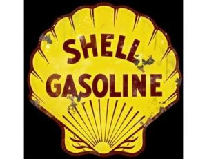 SHELL GASOLINE LARGE METAL SIGN