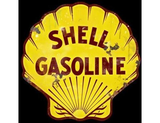 SHELL GASOLINE LARGE METAL SIGN