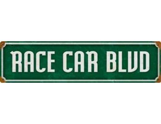 RACE CAR BLVD METAL SIGN