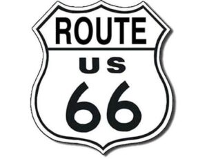 ROUTE 66 SHIELD CUT METAL SIGN