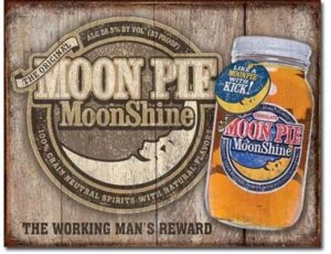 MOON SHINE WHISKEY METAL SIGN