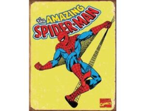 RETRO SPIDERMAN METAL SIGN