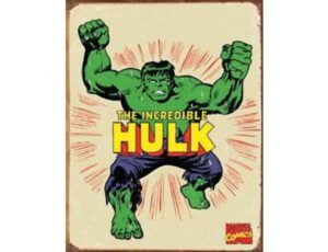 RETRO THE HULK METAL SIGN