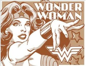 WONDER WOMAN  DUOTONE METAL SIGN