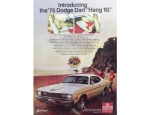 1975 DODGE DART ORIGINAL AD POSTER