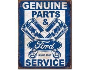 Ford Parts & Service Metal Sign