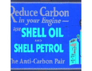 Shell Oil and Petrol Metal Sign