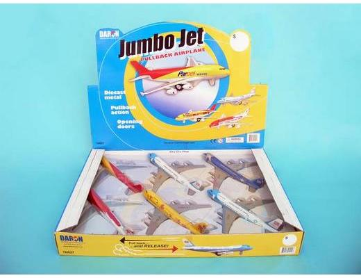 JUMBO JET AIRPLANE - PULL BACK ACTION