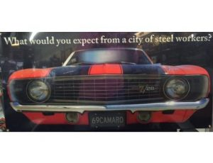 1969 Camaro metal sign