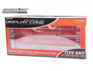 ACRYLIC INTERLOCKING  DISPLAY CASE FOR SIX 1:64 SCALE DIE CAST