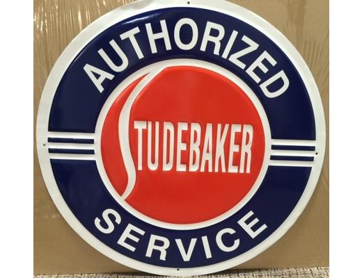 STUDEBAKER AUTHORIZED SERVICE METAL SIGN