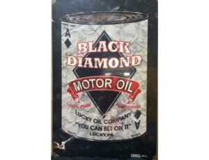 BLACK DIAMOND MOTOR OIL METAL SIGN