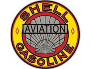 SHELL AVIATION GASOLINE ROUND METAL SIGN
