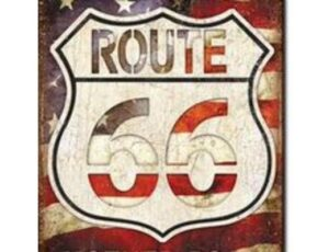 AMERICAN'S ROUTE 66 MOTHER ROAD METAL SIGN
