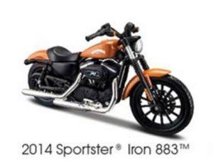 2014 HARLEY DAVIDSON SPORTSTER IRON 883-ORANGE