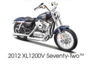 2012 HARLEY DAVDISON XL1200V SEVENTY TWO-BLUE