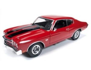 1970 CHEVY CHEVELLE SS 396-RED WITH BLACK STRIPES