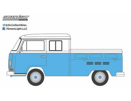 1968 Volkswagen T2 Type 2 Crew Cab Pickup