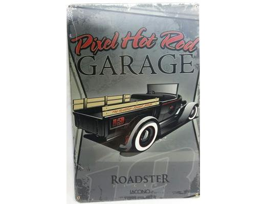 PIXEL HOT ROD GARAGE SIGN