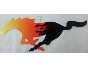 MUSTANG FLAME HORSE SIGN