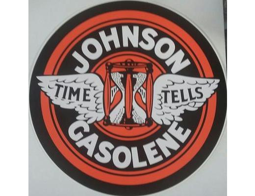 JOHNSON GASOLINE DECAL