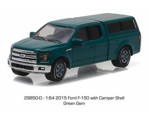 2015 Ford F-150 with Camper Shell in Green Gem