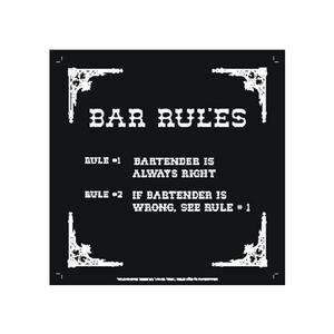 BAR RULES METAL SIGN MAGNET