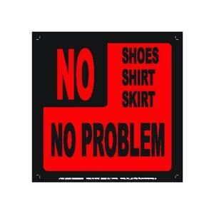 NO SHOES METAL SIGN MAGNET