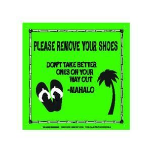 REMOVE YOUR SHOES METAL SIGN MAGNET