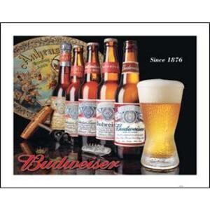 BUDWEISER HISTORY METAL SIGN