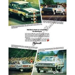 1966 PLYMOUTH BELVEDERE POSTER