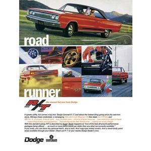 1967 DODGE CORONET R/T POSTER
