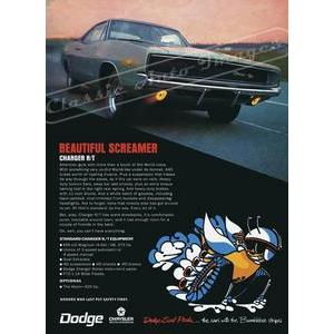 1968 DODGE CHARGER R/T POSTER