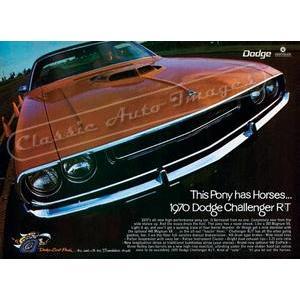 1970 DODGE CHALLENGER R/T POSTER