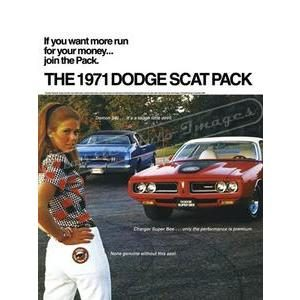 1971 DODGE SCAT PACK POSTER