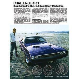 1971 DODGE CHALLENGER R/T POSTER