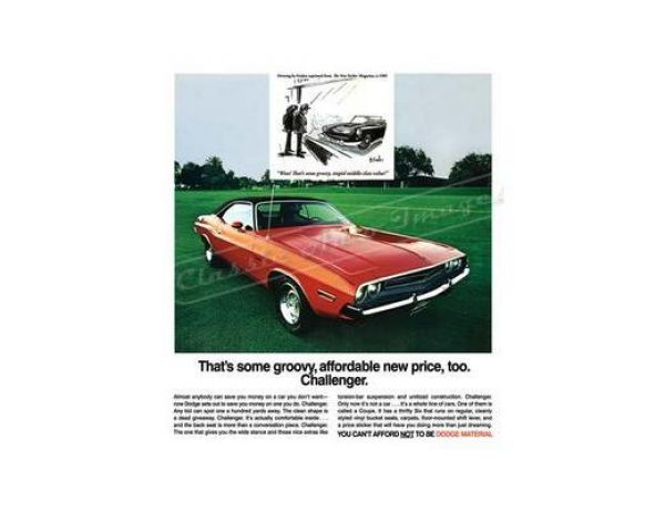 1971 DODGE CHALLENGER T/A POSTER