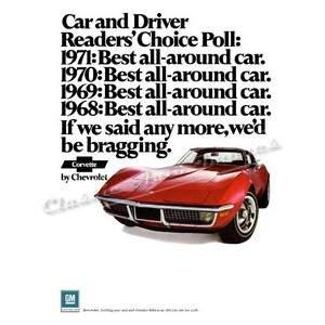 1971 CHEVY CORVETTE POSTER