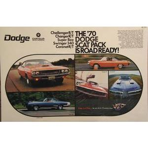 1970 DODGE  SCAT PACK POSTER