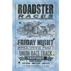 ROADSTER RACES - ROLL OVER FUN SIGN