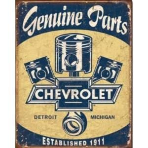 CHEVY GENUINE PARTS METAL SIGN