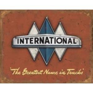 INTERNATIONAL LOGO  - METAL SIGN