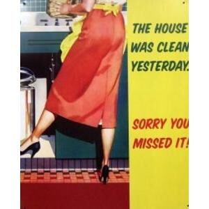 HOUSE CLEAN - METAL SIGN