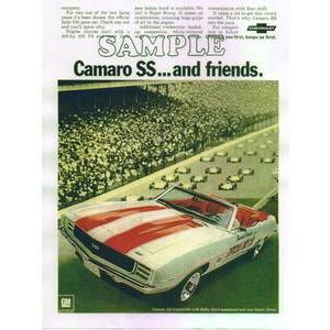 1969 CHEV CAMARO RS/SS POSTER- CAMARO FREINDS
