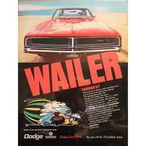 "1969 DODGE CHARGER POSTER - ""WAILER"""