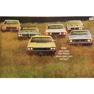 "1968 GM LINE UP POSTER - ""WHAT MORE CAN WE SAY"""