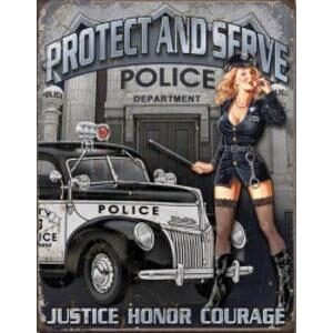 POLICE - PROTECT AND SERVE