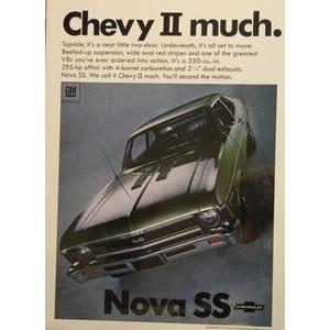 1968 CHEV NOVA SS- ORIGNAL AD POSTER
